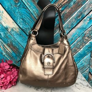 Coach Metallic Gold Shoulder Hobo Bag
